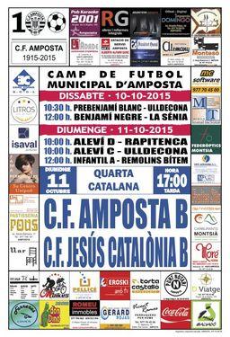 """Jornada 3 QUARTA CATALANA GRUP 20. Diumenge 11 d�octubre 17:00 hores..CF AMPOSTA """"B""""  - CF JES�S CATAL�NIA """"B"""""""""""