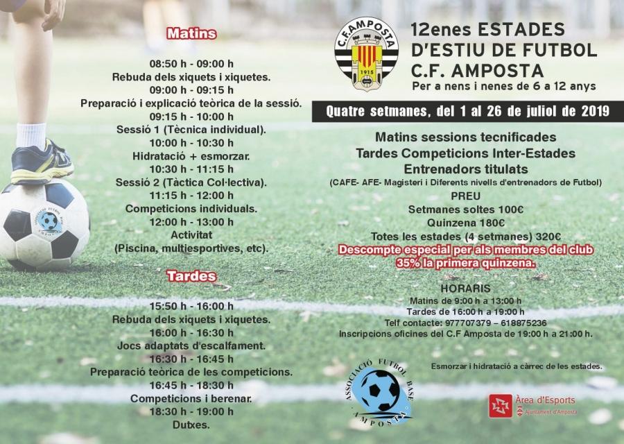 Club Futbol Amposta :  : 12es Estades d'estiu de futbol C.F. Amposta
