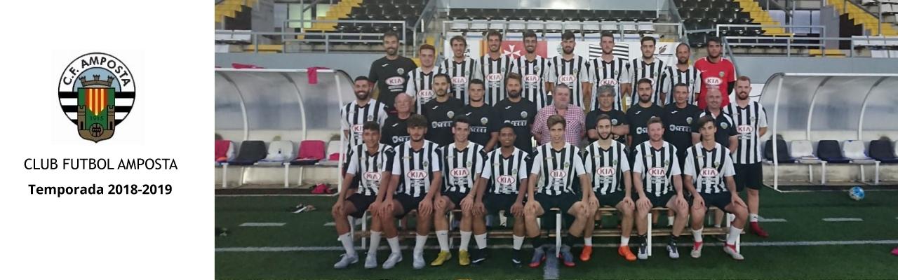 Plantilla Club Futbol Amposta temporada 2018/2019